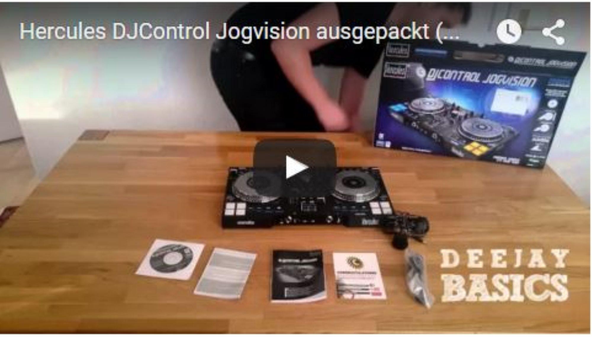 Hercuels DJControl Jogvision ausgepackt