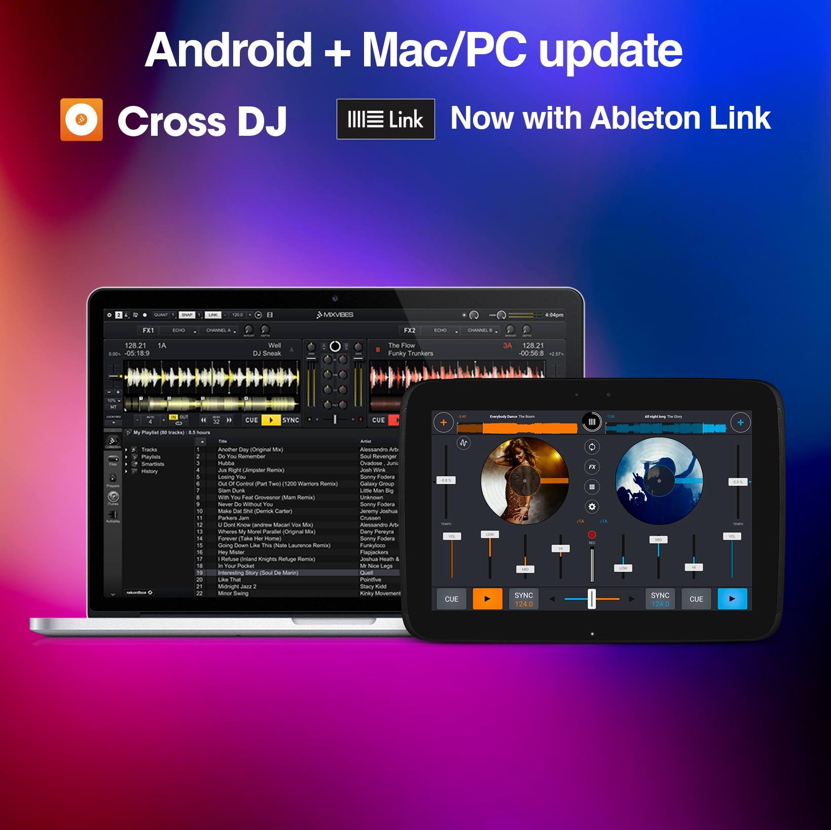Mixvibes Cross mit Ableton Link