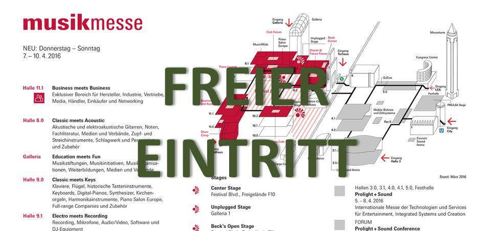 Freikarte für die Musikmesse 2016