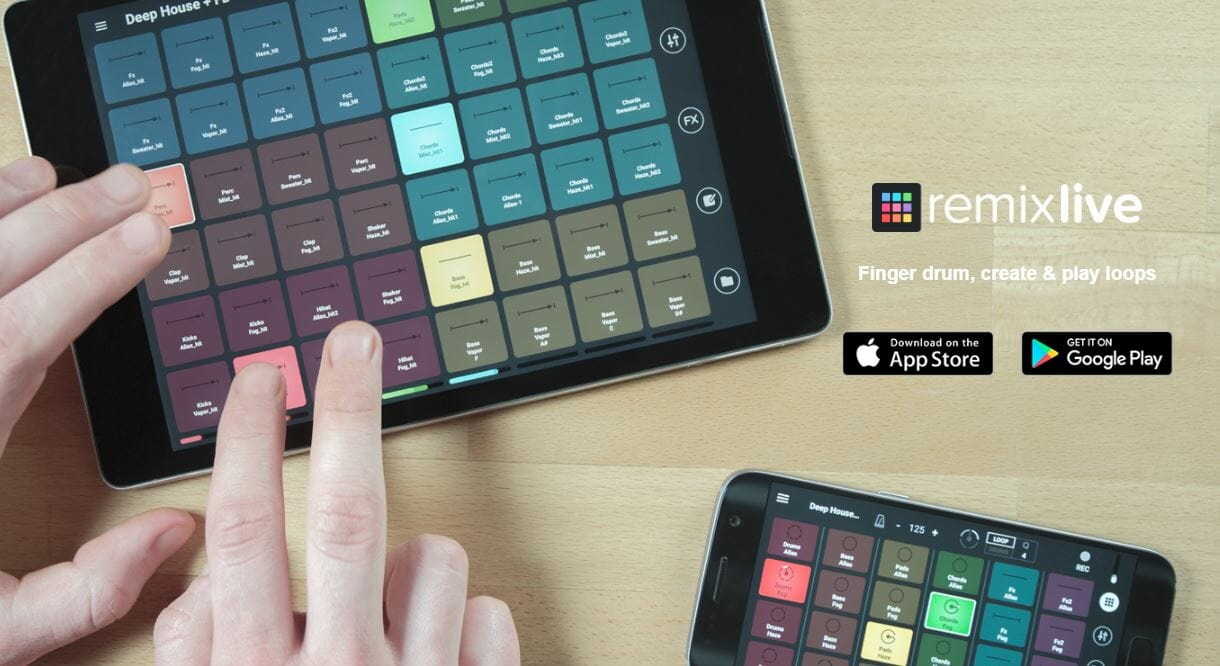 Remixlive 3.0 Fingerdrumming App