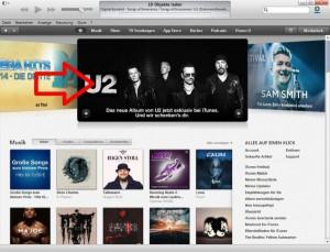 U2 Songs Of Innocence bei iTunes - Schritt 1