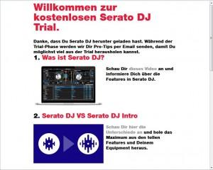 Serato DJ - Bestätigung via Email von Serato